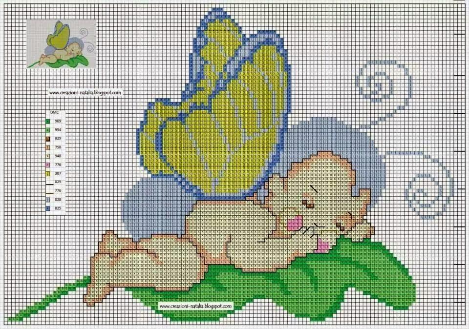Ben noto Hobby lavori femminili - ricamo - uncinetto - maglia: Schemi Bimbi  WE92