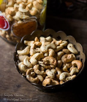 how to roast nuts in air fryer : spicy roasted cashewnut recipe