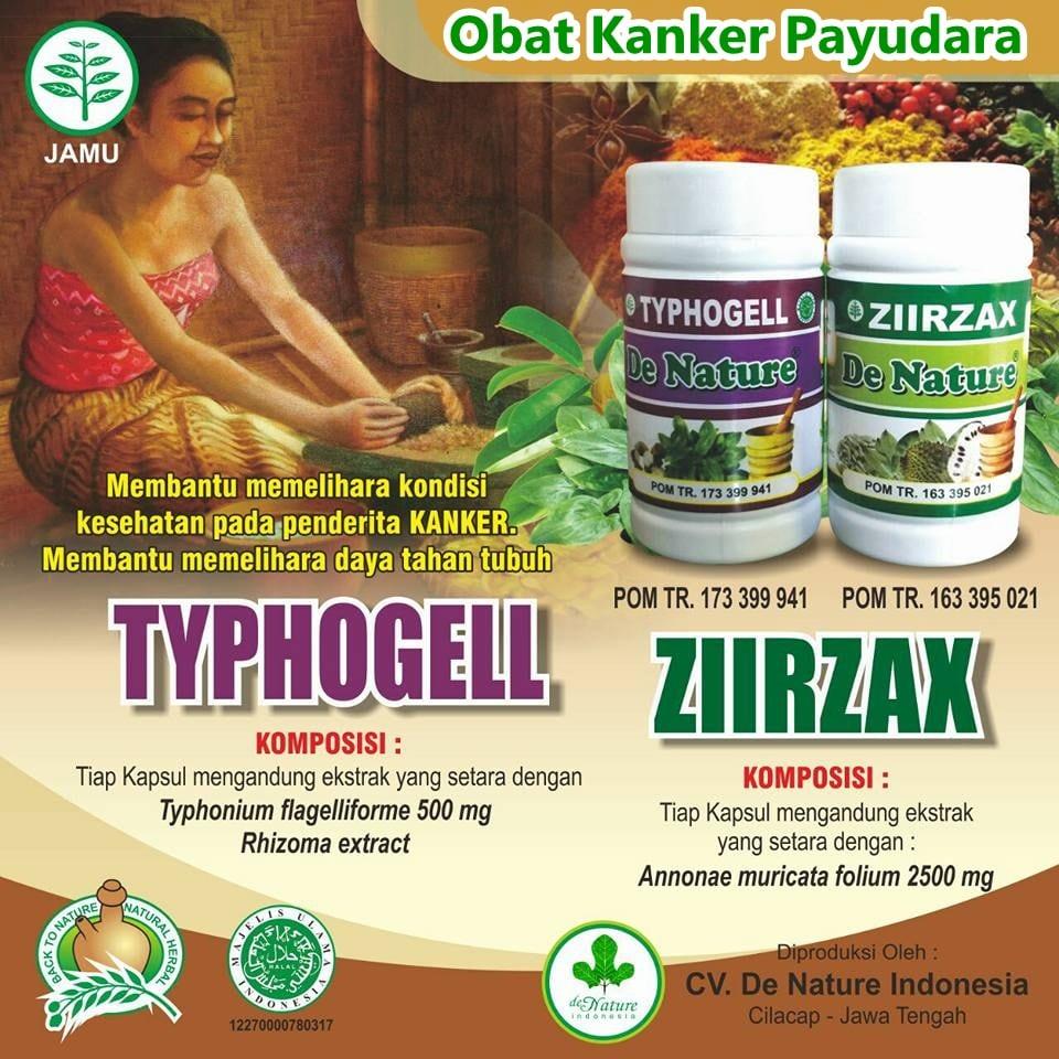 obat kanker payudara herbal de Nature ziirzax typhogell
