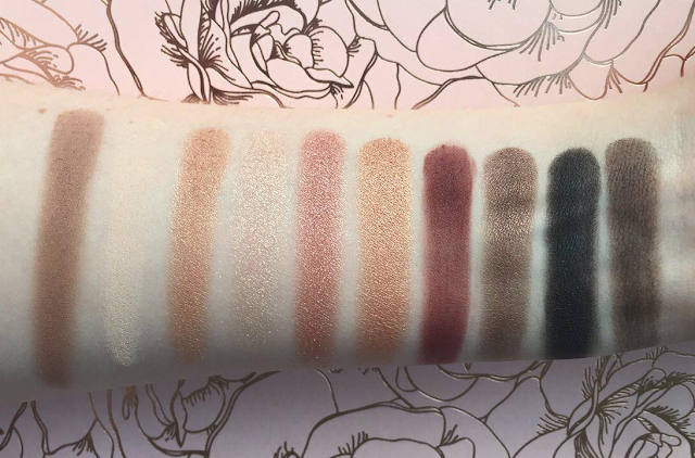 Wet n Wild Color Icon ten pan eye shadow in Nude Awakening swatches