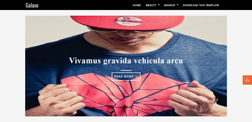 Galaxo Free Blogger Template