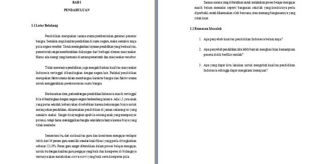 Contoh Makalah Kewarganegaraan Tentang Sistem Pendidikan Indonesia Contoh Makalah Docx