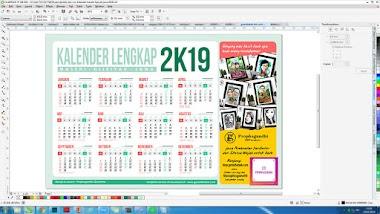 TEMPLATE KALENDER 2019 LENGKAP MASEHI HIJRIAH JAWA CDR