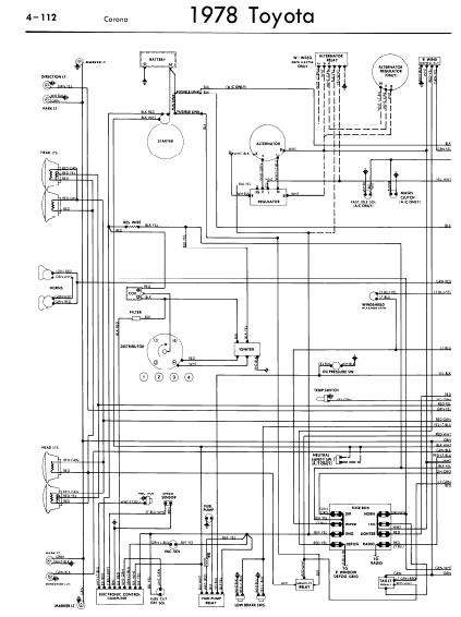 repair-manuals: Toyota Corona 1978 Wiring Diagrams