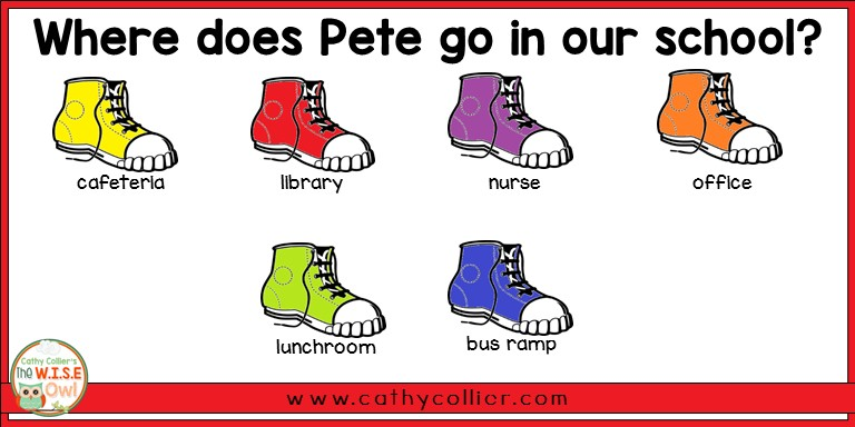 Pete The Cat Rocking In My School Shoes Sequencing Activity ✓ Shoes ...