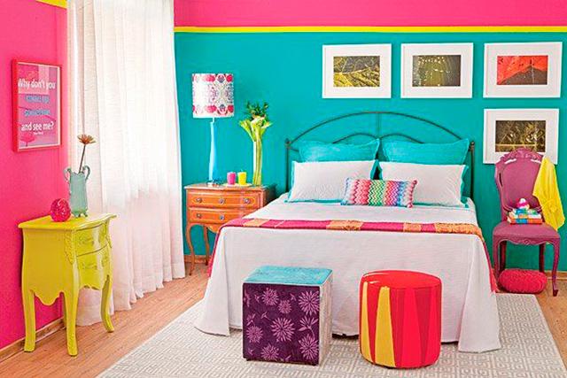 Dormitorios multicolor - Diseno de dormitorios pequenos ...