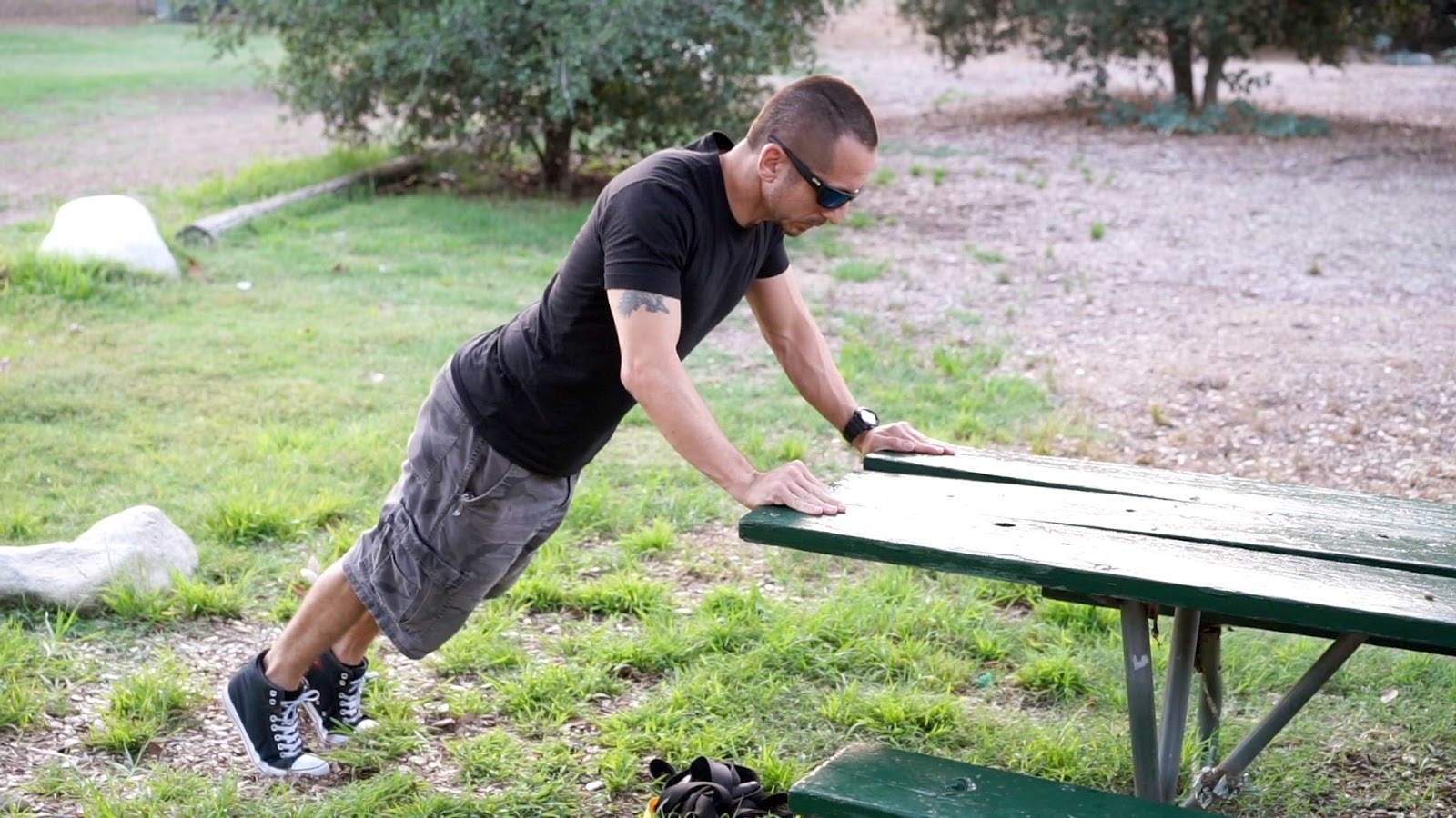 best trainer pasadena park bench workout