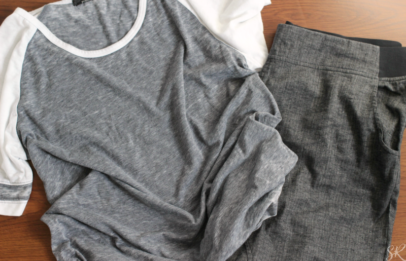 prAna grey workout outfit