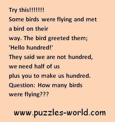 Some birds flying puzzle