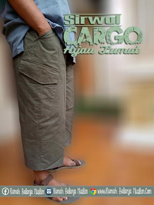 Celana Sirwal Cargo Hijau Lumut