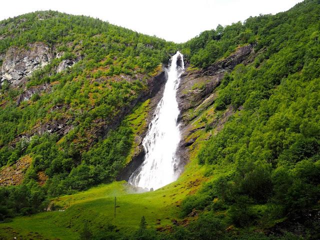 Vodopád, národní park, konec, Norsko, Jotunheimen, údolí Utladalen, příroda, trek, turistika