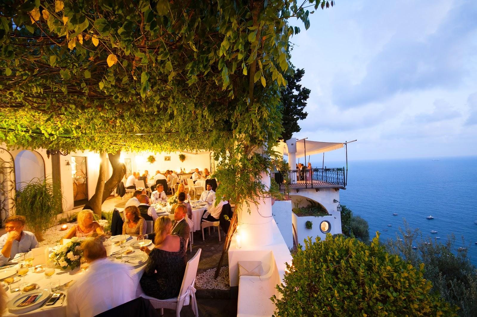 Wedding reception at Villa Oliviero in Positano
