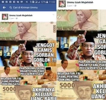 "Hobi Menistakan Kiai Said dan Jokowi, Pemilik FB ""Ummu Izzah Mujahidah"" Dipolisikan"