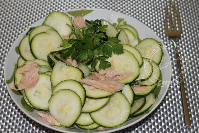 Carpaccio di zucchine e tonno