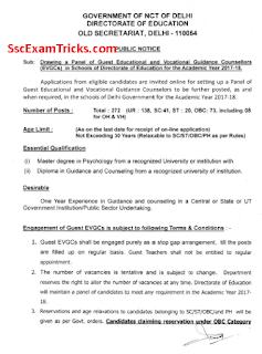 Delhi EDUDEL Recruitment 2017-18 Notice