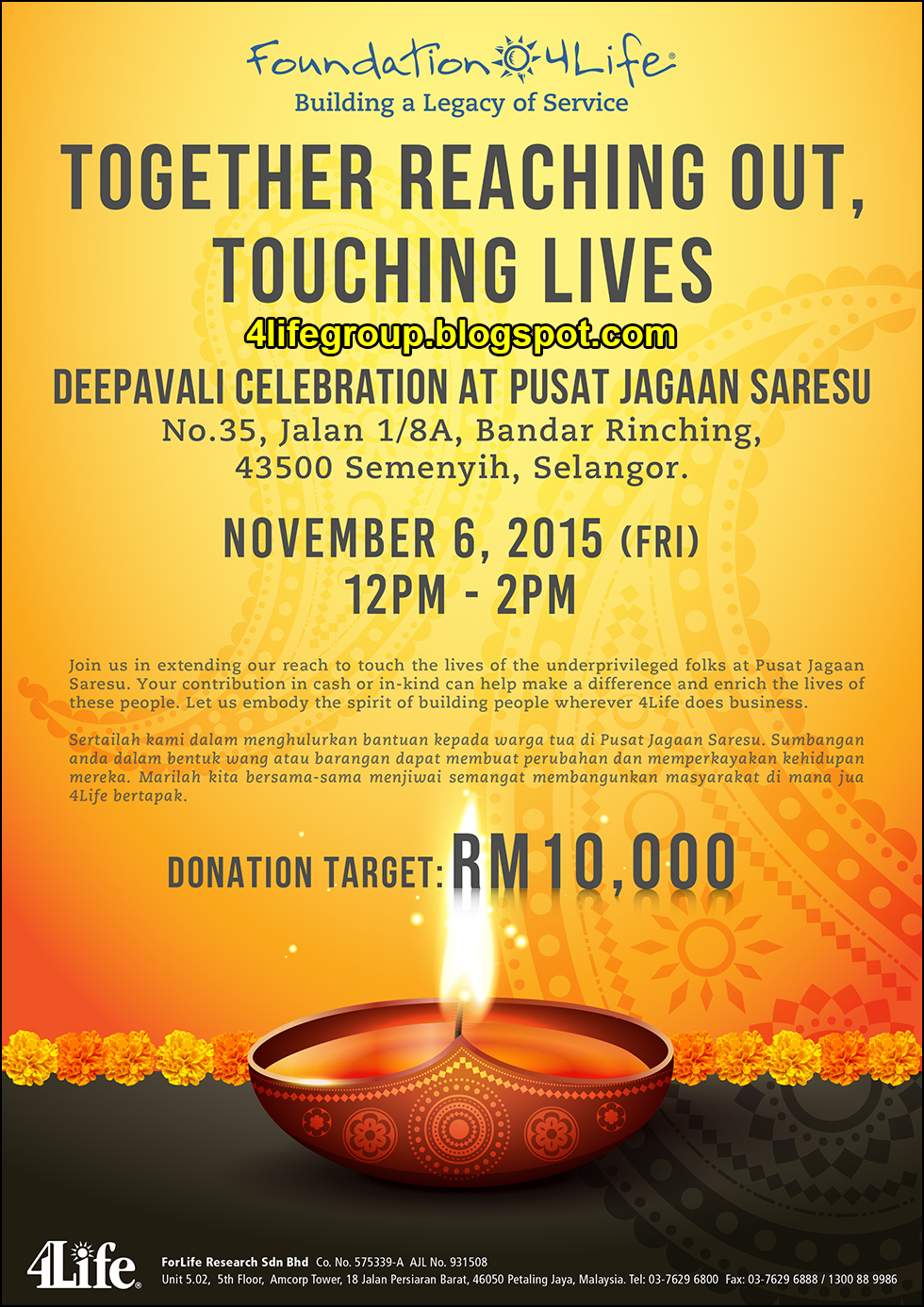 foto Foundation 4Life – Deepavali Celebration