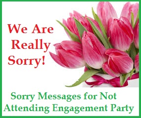 Sorry Messages For Not Attending Engagement Party  Apology Card Messages