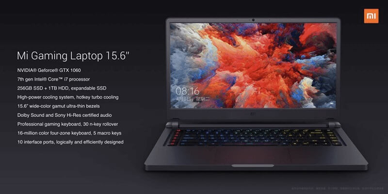 Xiaomi Outs Mi Gaming Laptop