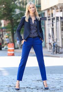 Imágenes Tendencias Moda Mujer Instagram Otoño Invierno indumentaria azul klein pantalon