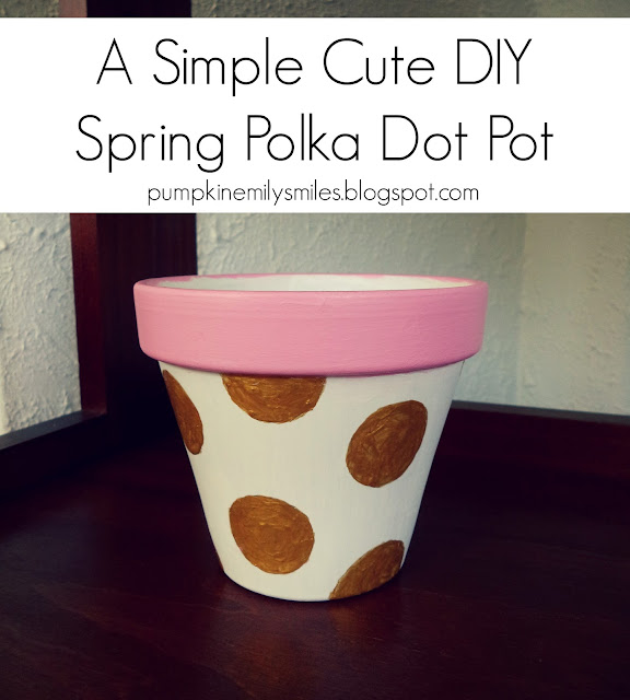 A Simple Cute DIY Spring Polka Dot Pot