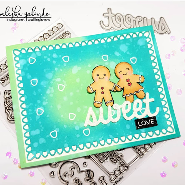 Sunny Studio Stamps: Jolly Gingerbread Love Customer Card Share by Waleska Galindo