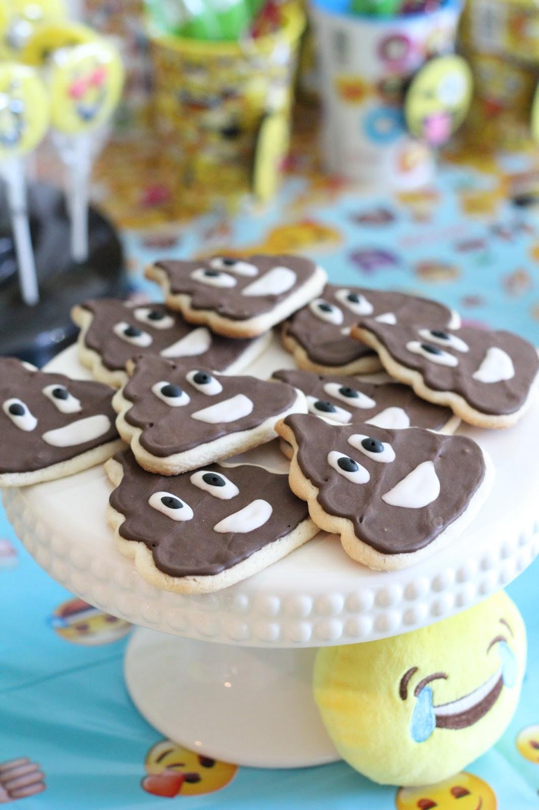 Royal Icing Poop Emoji Cookies How to