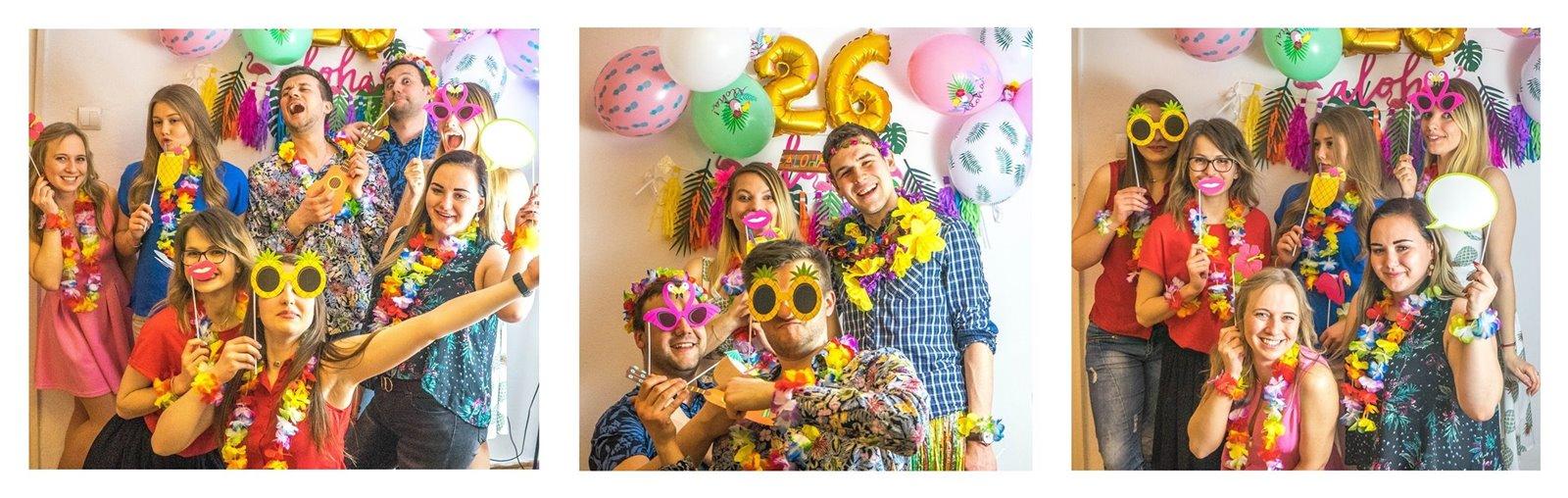 15a jak zorganizować atrakcje na urodziny imprezy dla dorosłych fotobudka diy pomysły na urodziny co zrobić atrakcje jedzenie zdjęcia pamiątki dodatki styl hawajski tematyczne urodziny imprezy