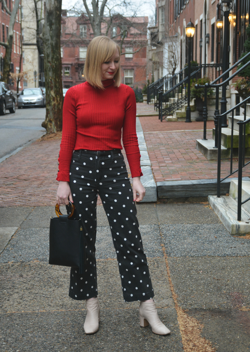 Polka Dots and a Pop of Red | Organized Mess
