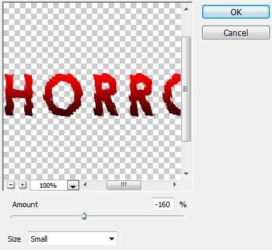 Efek filter Ripple untuk membuat teks terlihat horror di Photoshop