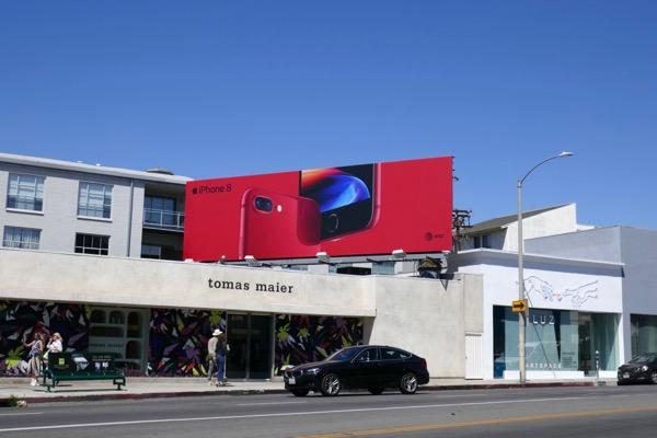 iPhone 8 red billboard