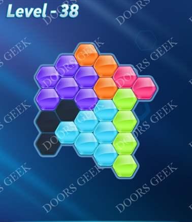Block! Hexa Puzzle [6 Mania] Level 38 Solution, Cheats, Walkthrough for android, iphone, ipad, ipod