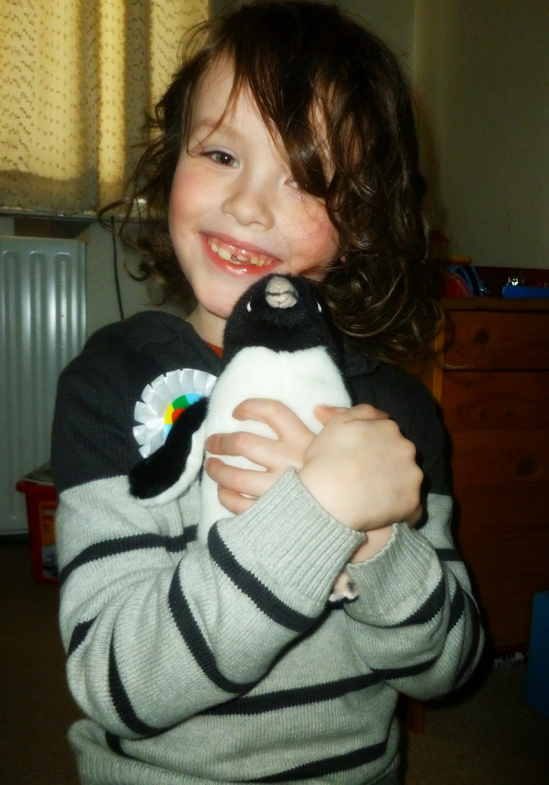 The Boy and his WWF penguin