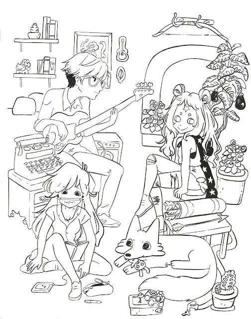 ilustración a mano