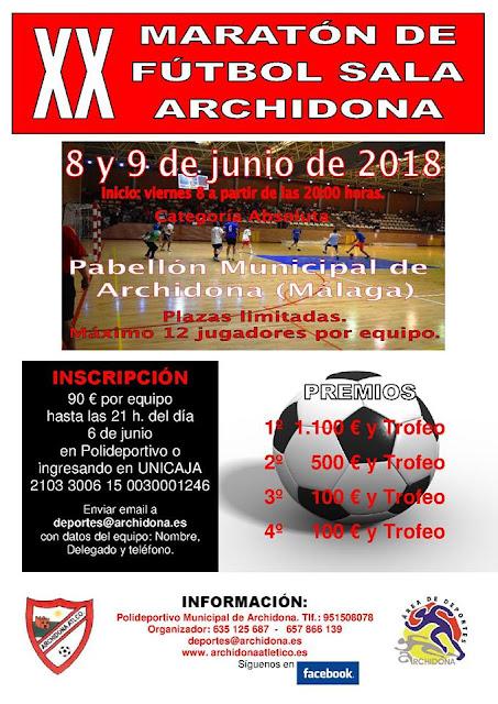 XX Maratón de Fútbol Sala de Archidona