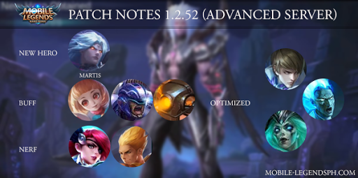 Mobile Legends Patch Notes 1.2.52 (Advanced Server)