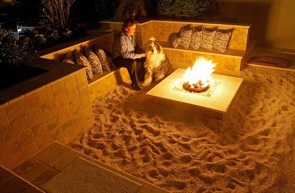 Back Yard Beach-Themed Fire Pit