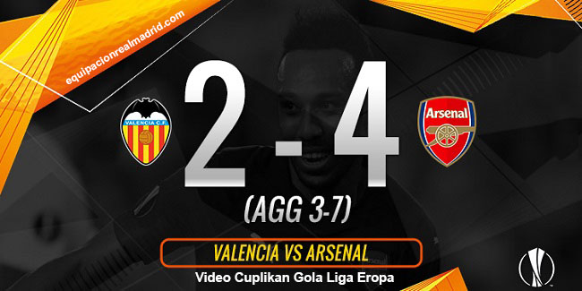 video cuplikan gol liga eropa valencia vs arsenal 10 mei 2019