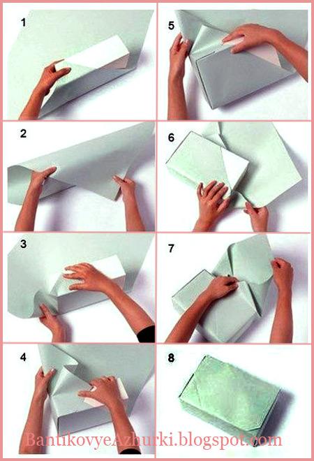 Как упаковать подарок в оберточную бумагу