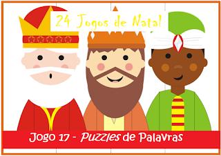 Natal - puzzles de palavras