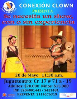 Se necesita un show con o sin experiencia | Teatro Jugueteatro