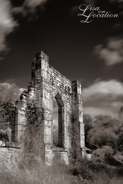 D'Hanis church ruin infrared