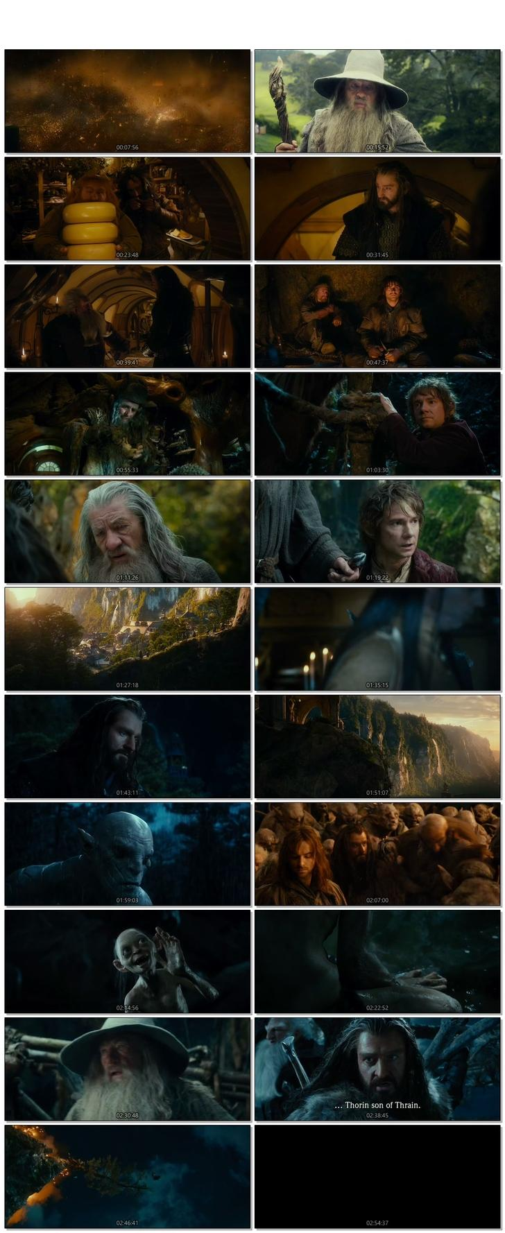 Screen Shot Of The Hobbit An Unexpected Journey 2012 300MB Full Movie Hindi Dubbed Free Download 720P BRRip HEVC