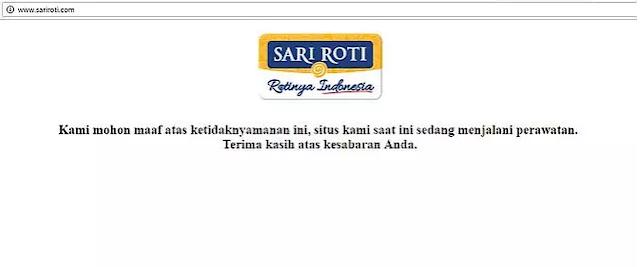 Pasca-Diretas, Situs Web Sari Roti Kini Sedang Dibenahi