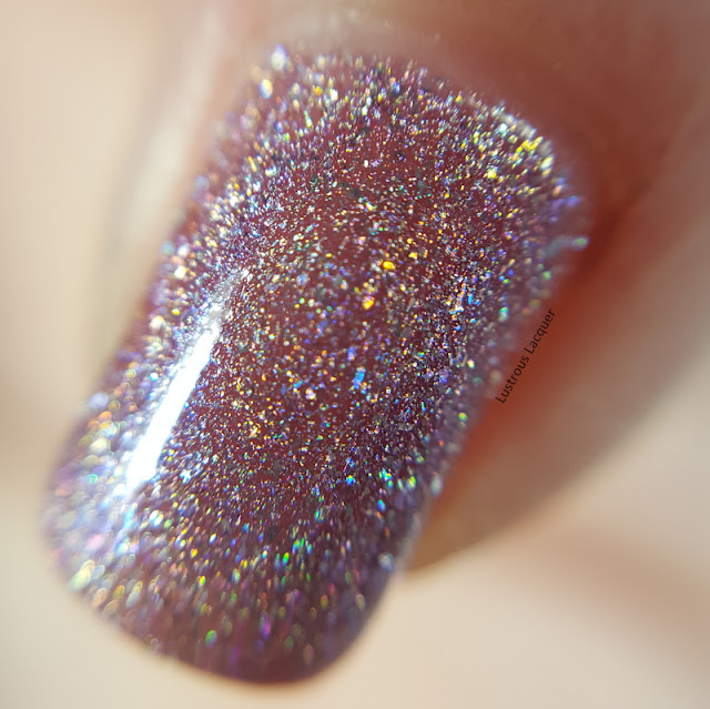 lilac purple scattered holographic nail polish