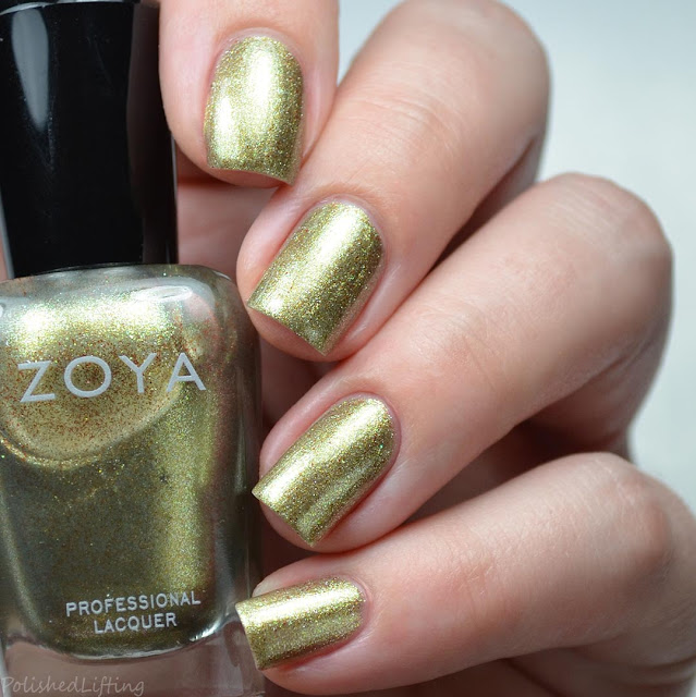 golden metallic nail polish