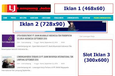 Pasang Iklan Premium di Lampung Jobs