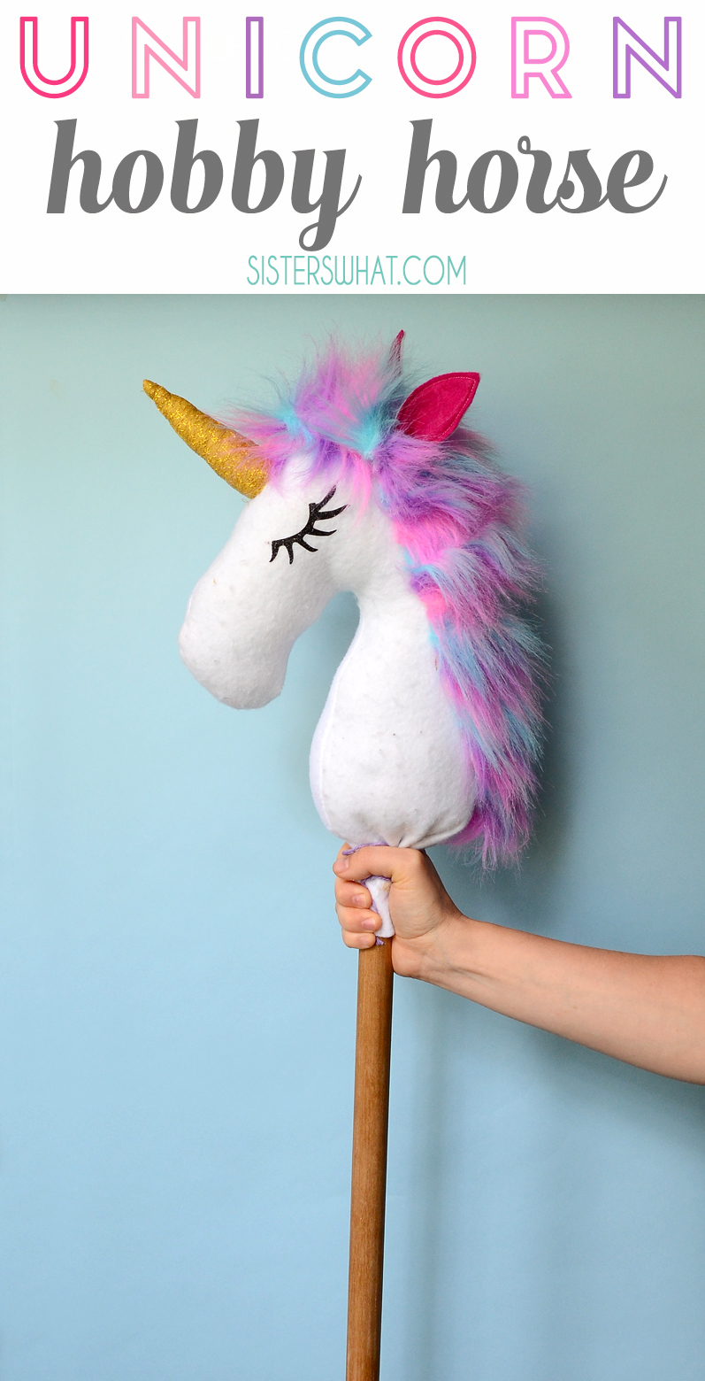 A fun unicorn hobby horse play horse