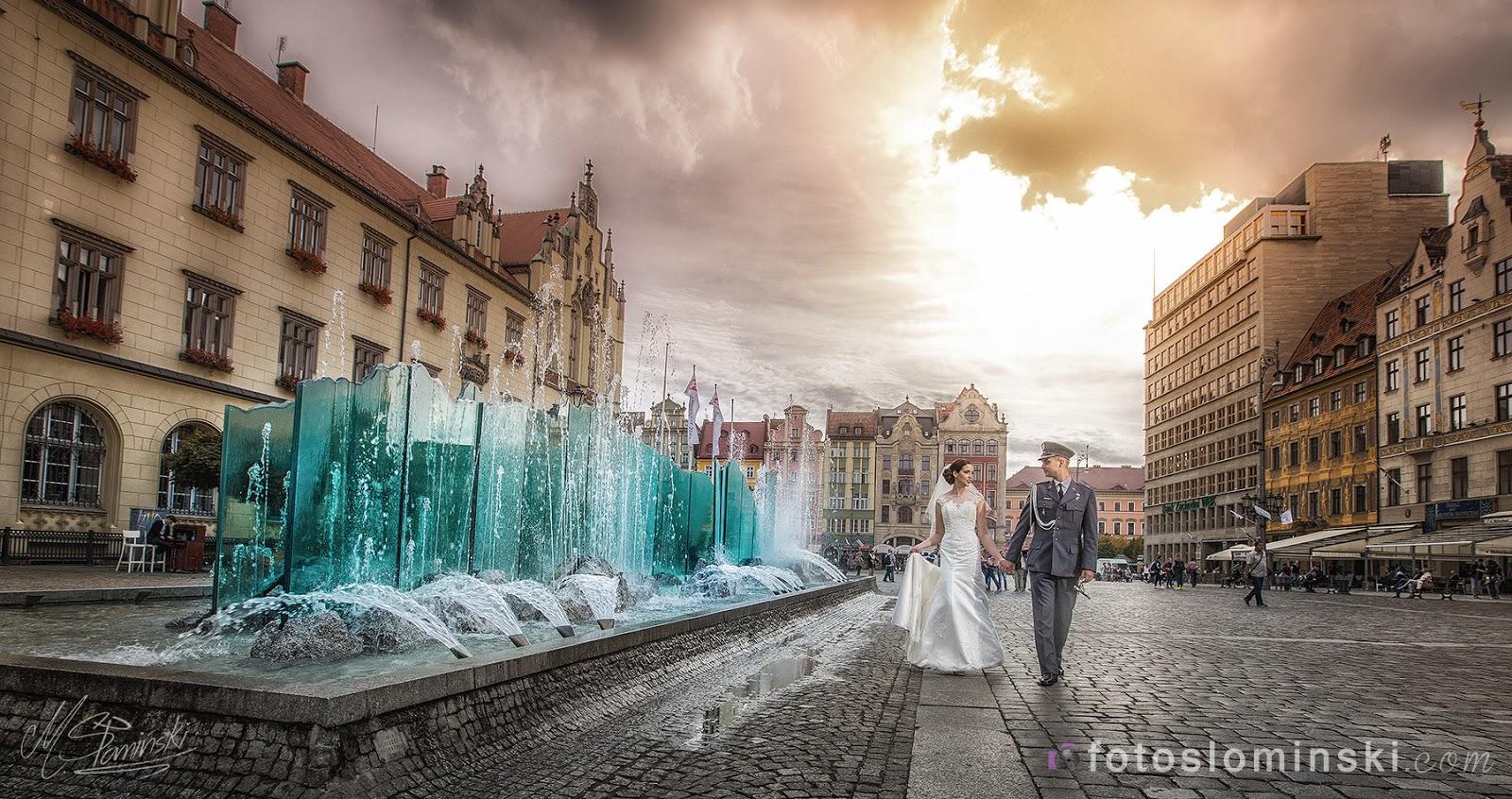 Miejsca na sesje ślubną / plenerową we Wrocławiu ? Oczywiście Wrocław Rynek i okolice - Fotografia ślubna Fotoslominski.