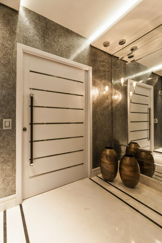 Construindo minha casa clean 50 hall de entrada de casas - Decoracion de entraditas pequenas ...