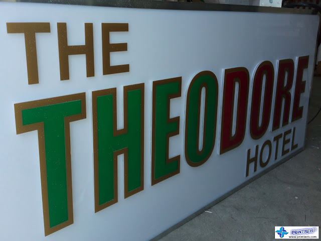 Double Face Built-Up Acrylic Signage for Theodore Hotel, Tagaytay City